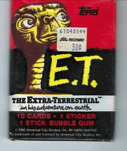 ET ,movie trading cards  pack