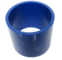 """BLUE Silicone Hose Coupler 76mm Straight (3"""" Inch Silicon Joiner)"""