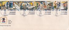 Scott# 1489-98 Postal People 4/30/1973 CRANBURY, NJ unofficial cancel on USPS en