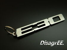 """Schlüsselanhänger """"E30"""" für BMW 318i 320is 323i 325i M3 S14 - Edelstahl glänzend"""