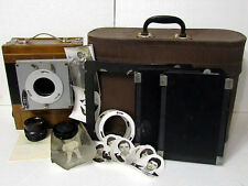 FKD 13x18 Vintage USSR Soviet Old Road Wooden Camera + Lens Industar-51 f4,5/210