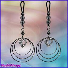Custom exotic swaying nipple jewelry. Non Pierced ....Comfortable to wear!