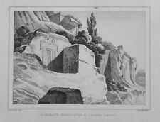 1834.Stampa/Acciaio=TOMBA ETRUSCA a CASTEL D'ASSO=VITERBO.LAZIO.Pittoresque.ETNA