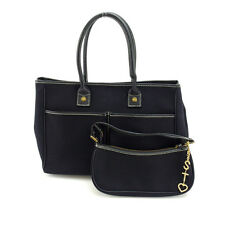Samantha Thavasa Tote bag Black White Woman Authentic Used Y3306