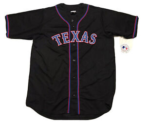 Genuine Merchandise Texas Rangers Baseball Jersey Men's Size L-Tall Red Blue