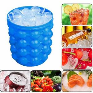 Silicone Ice Cube Magic Maker Revolutionary Space Saving Ice Genie Tray Bucket
