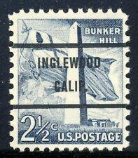 Inglewood CA, 1034-71 Bureau Precancel, 2½¢ Bunker Hill