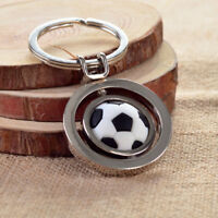 EE_ Men Women Sports Rotating Football Soccer Charm Keychain Car Key Ring Gift C