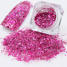 Nail Art Glitter Dust Powder Acrylic UV Gel Tips Decoration Rose Red Color #10