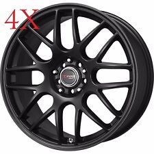 Drag Wheels DR-34 15x7 5x100 5x114.3 Black Rims For Neon Pruis Golf Jetta XB