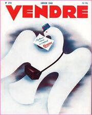 ▬►MARKETING PUBLICITÉ  -- VENDRE N° 215 (JANVIER 1948) --  COVER G.CHAMBLET