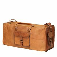 Men Great Leather Travel Duffel Weekender Large Gym Overnight Carry Luggage Bag