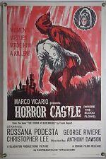 HORROR CASTLE FF ORIG 1SH MOVIE POSTER CHRISTOPHER LEE EURO HORROR (1964)