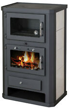 Wood Burning Stove WIth Oven Fireplace Cooker Solid Fuel Log Burner 15 kw