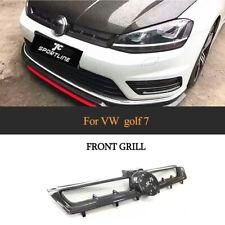Front Hood Grille Grill Trim Fit For VW Golf 7 MK 7 VII 14-17 Carbon Fiber Refit