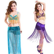 Halloween Costumes Club Dance Performance Wear Belly Dance Bra Skirt Suit 2pcs