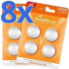 8x CR2032 Batterie Lithium Knopfzelle 3V CR2032