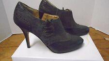 Circa Joan & David Jeunice Dark Brown  Women's Shoes New 6 1/2 Heel Tie Suede
