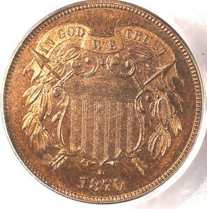 1870 2C PR65RB PCGS-ONLY 24 IN HIGHER GRADE- PQ & 95% RED