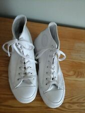MENS WHITE LEATHER 'CONVERSE' ALL STAR BOOTS SIZE UK 8