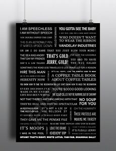 Seinfeld Quotes Poster A4