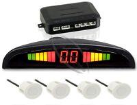 Einparkhilfe mit Display&Ton, 4-Sensoren in Weiß Rückfahrwarner Parkhilfe PDC
