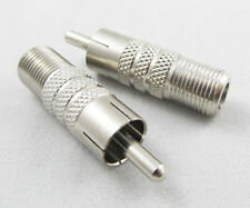 Audio Video TV Adapter Connector F Female to RCA Male Adapter 1pcs