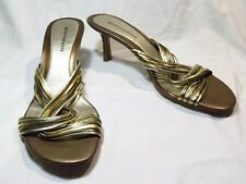 Giovanna Womens Shoes Heels Gold Bronze Leather Size 9 NIB Not Perfect
