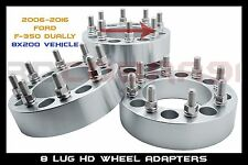 "2006-2016 Ford F-350 Dually 8x200 Wheel Spacers Adapters (1.5"") 14x1.5 studs"
