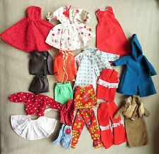 Vtg Lot Barbie Clothes 2 Piece Outfits Cowboy Western Fur Coat Mod Retro Dress