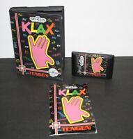 Klax (Tengen Sega Genesis) CIB Complete Tested & Authentic