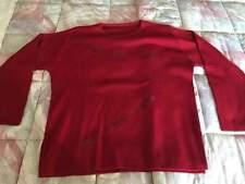 Maglione donna rosso - Lana merinos e acrilico