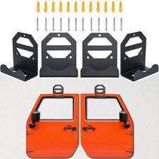 4pcs Door Hanger Wall Mount Storage Holder For Jeep Wrangler CJ YJ TJ LJ JK JL