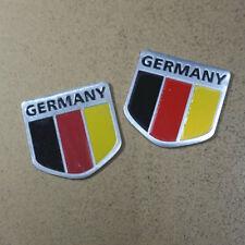 2PCS Small Germany Metal Sticker Badge Emblem Decal Car Motor suv 3D Performance