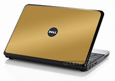 GOLD Vinyl Lid Skin Cover Decal fits Dell Inspiron Mini 10 Netbook
