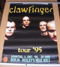 "CLAWFINGER 34"" x 24"" original tour poster 1995"