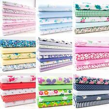 Fabric Bundles Polycotton Fat Quarters Floral Roses Childrens Material Nursery
