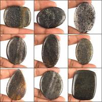 100% Natural Black Sunstone Starry Sparkling Top Quality Cabochon Gemstones