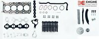 RENAULT LAGUNA 2.0 DCi M9R DIESEL TIMING CHAIN KIT + HEAD GASKET SET & BOLTS