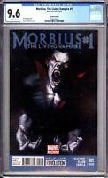 Morbius The Living Vampire 1 CGC 9.6 NM+ 2nd Print Marvel Comics 2013