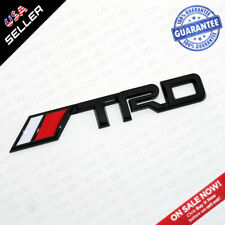 Universal TRD Fender Liftgate Sticker Badge Emblem Decoration Gift - Gloss Black