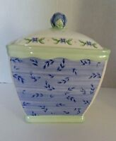 Medium Canister with Lid and Seal Pfaltzgraff Summer Breeze Yellow Green Blue