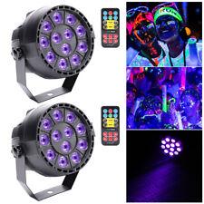 2PCS Remote Stage Lighting Bar Disco UV PAR Black Light 12 LED DMX Wedding Party