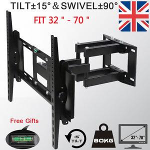 UK TV Wall Bracket Tilt Swivel Samsung LG Bush 32 40 42 43 49 50 55 60 65 70inch