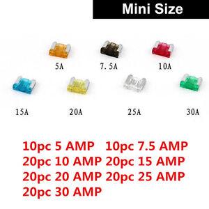 HOT 120Pcs MIX Car Mini Standard Blade Fuse 7.5 10 15 20 25 30 Amp ATM APM Sales