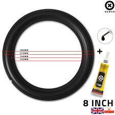 "8"" inch Rubber Woofer Speaker Part Light Surrounds Repairs Spare 185MM UK + Glue"