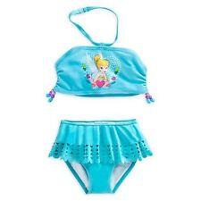 Girls 9 10 Tinkerbell Tinker Bell 2 pc Tankini Bikini swimsuit swim suit NWT