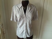 Ladies striped linen mix blouse from Country Casuals - size 16