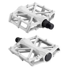 "White Metal Very Grippy MTB BMX Bike Bicycle Cycling Flat Platform Pedals 9/16"""
