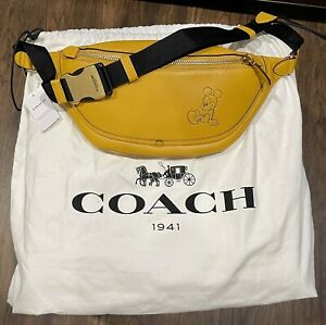 Disney X Coach League Belt Bag w/ Mickey Mouse 💛 NWT & SOLD OUT